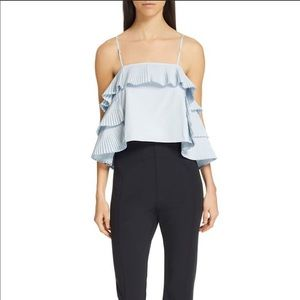 Opening Ceremony.  Pleated Ruffle Top
